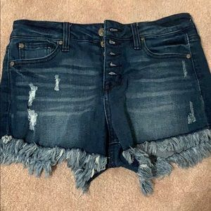 celebrity pink high waisted jean shorts